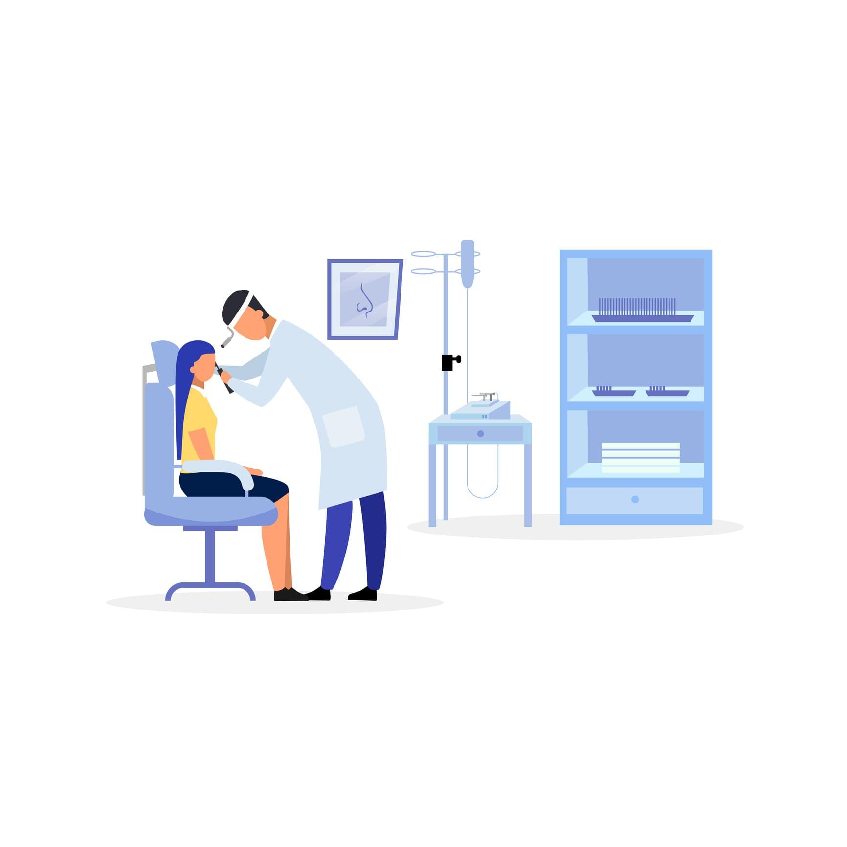 ENT doctor near me illustration