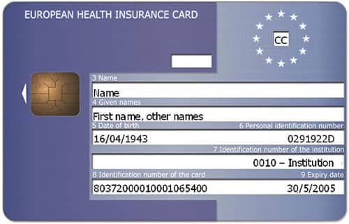 Tessera sanitaria or EHIC - used to access healthcare in Italy