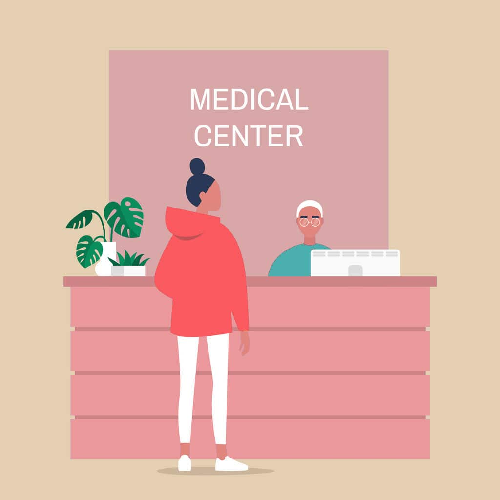 primary care physicians office near me illustration