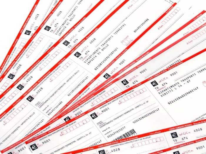 a bunch of Italian postal orders