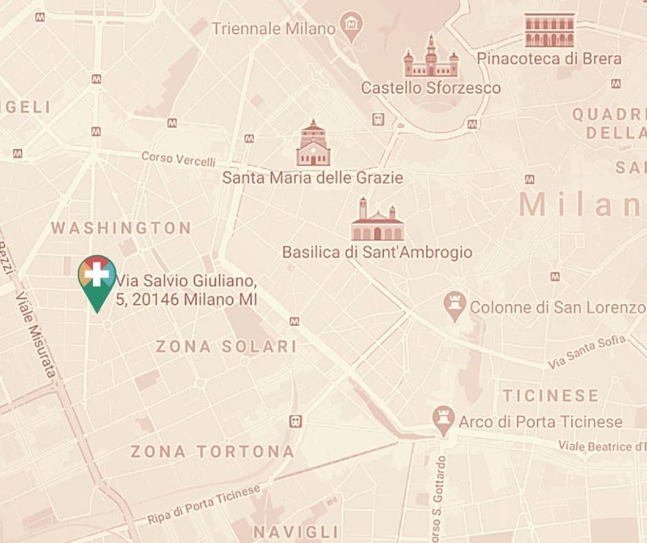 Doctors in Italy Milan Washington Map